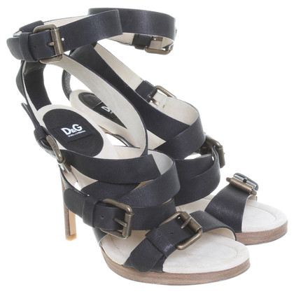 Dolce & Gabbana Leather sandals in black
