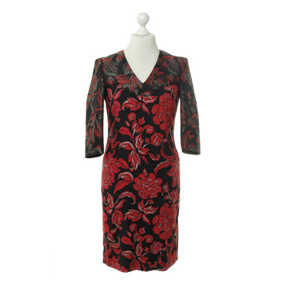 Rena Lange Brocade dress in red and black