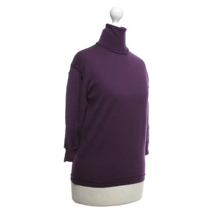 Acne maglione a collo alto in viola