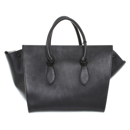 Céline Knot Bag Smooth in nero