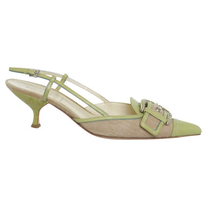 Prada Slingbacks in lichtgroen