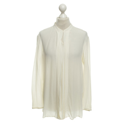 Luisa Cerano Zijden blouse in crème