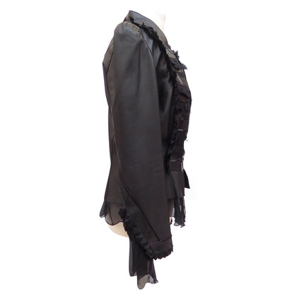 Jitrois Leather jacket with ruffle inserts