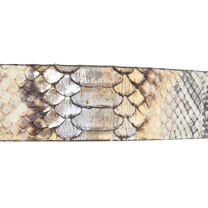 Fausto Colato Python leather belt