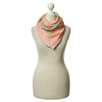 Cartier Salmon/turquoise scarf
