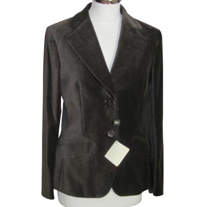 Max Mara giacca di velluto a Brown