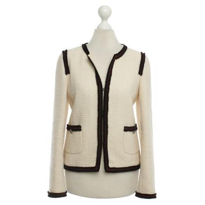Chanel Color crema tweed giacca