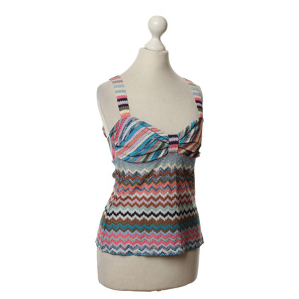Missoni Strappy top with Chevron pattern