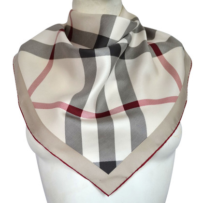Burberry Sciarpa in seta con motivo check