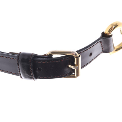 Moschino Leather waist belt