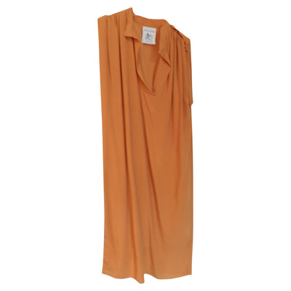 Semi Couture Robe en soie orange