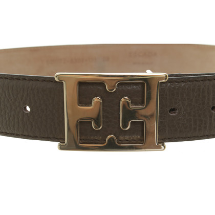 Escada Leather belt in Taupe