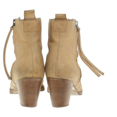 Acne Stiefeletten aus Leder Beige Neuer Stil Günstig Kaufen Neue Billig Verkauf Fabrikverkauf xsECDA