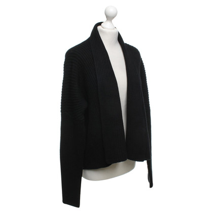 René Lezard Cardigan in nero