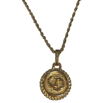 Christian Dior Fine chain with logo pendant