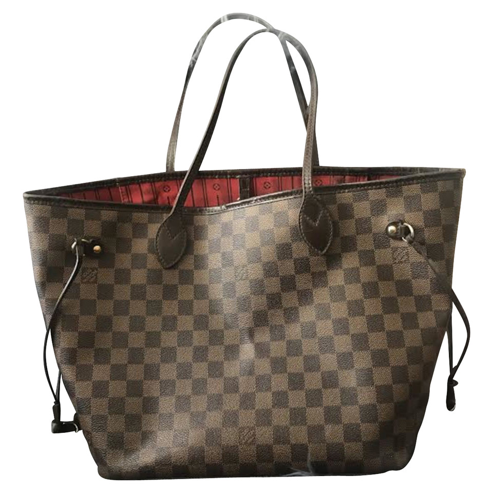 louis vuitton neverfull damier ebene canvas buy second hand louis vuitton neverfull damier. Black Bedroom Furniture Sets. Home Design Ideas
