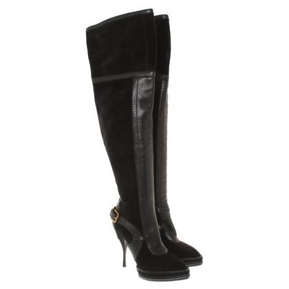 Christian Dior Overknees zwart