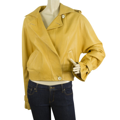 Cerruti 1881 Yellow Leather jacket