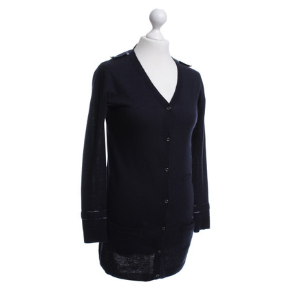 Burberry Knitted coat in dark blue