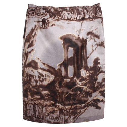 Prada skirt with motif print