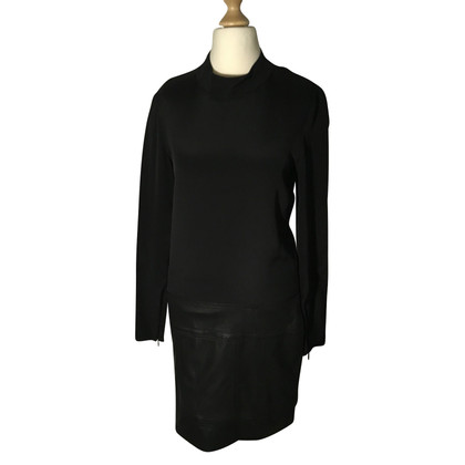 Theory Dress with leather detail