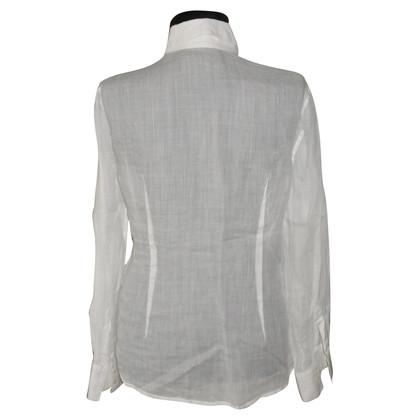 Ermanno Scervino camicia in lino con dettagli in pizzo