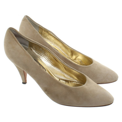 René Caovilla Wildleder-Pumps in Beige