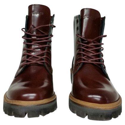 Gas Leather Ankle Boots bordeaux