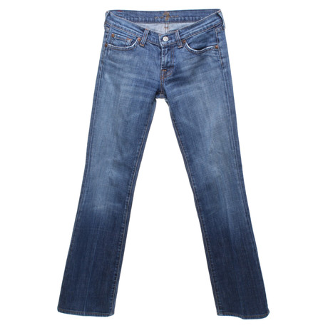 7 For All Mankind Bootcut-Jeans in Blau Blau