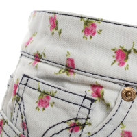 D&G Jeans skirt with floral pattern