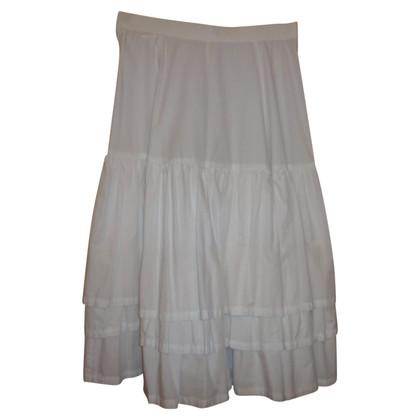 Comme des Garçons Coton blanc jupe