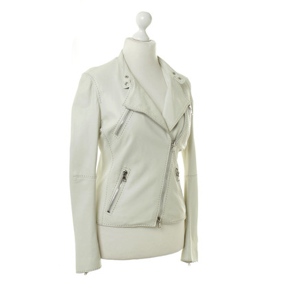 Alexander McQueen Leather jacket in cream