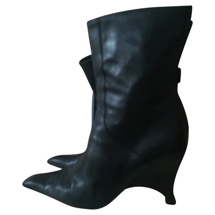 Pollini Black leather boots