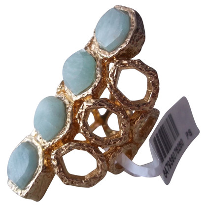 "Isharya ""Green Amazonite Goddess Honeycomb Ring"""