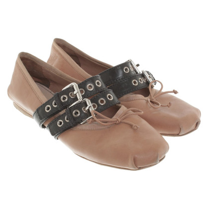 Miu Miu Ballerinas in brown