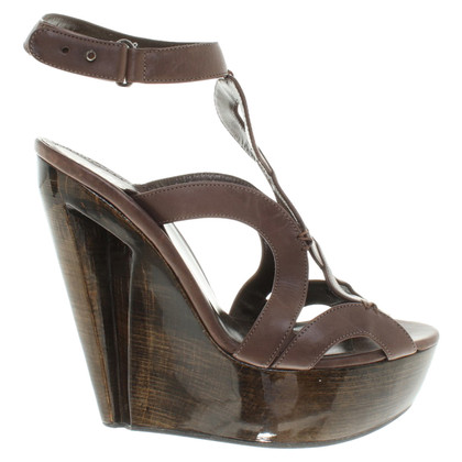 Roberto Cavalli Wedges in brown