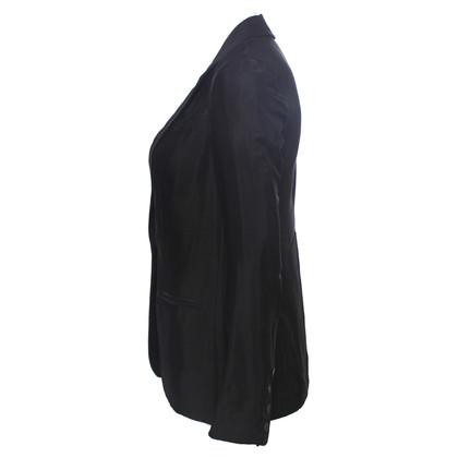 Diane von Furstenberg black shiny blazer