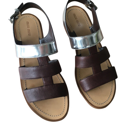 Miu Miu Sandals in bicolour