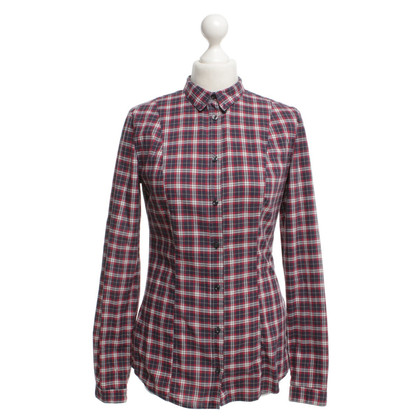 0039 Italy Blouse with plaid pattern