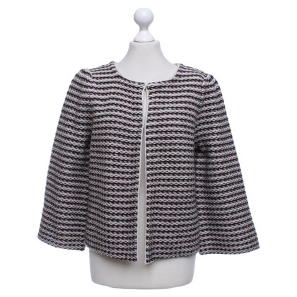 Goat Cardigan with stripes pattern