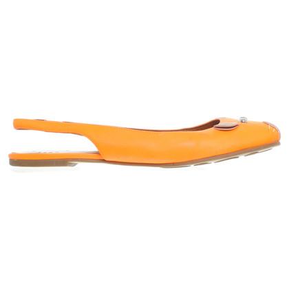 Marc Jacobs Orangefarbene Ballerinas im Maus-Design