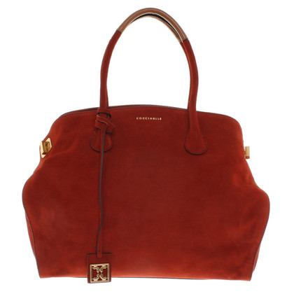Coccinelle Suede handbag in red