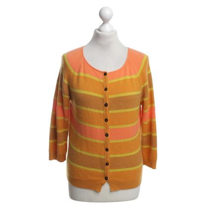Iris von Arnim Kaschmir-Strickjacke in Orange