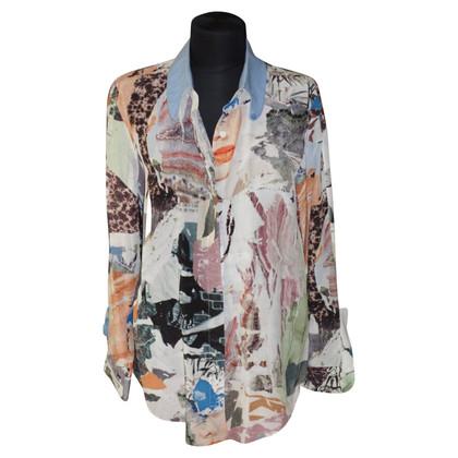 Carven Zijden blouse met patroon