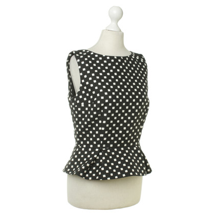 Christian Dior Top in black/white