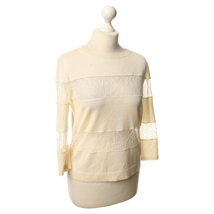 Max Mara top in beige lace