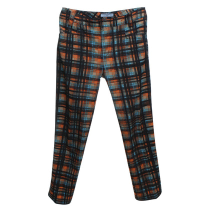 Prada trousers with check pattern