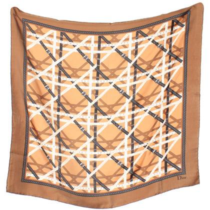 Christian Dior Kleurrijke zijden sjaal