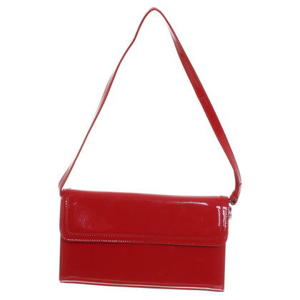 Basler Lackleder-Clutch in Rot