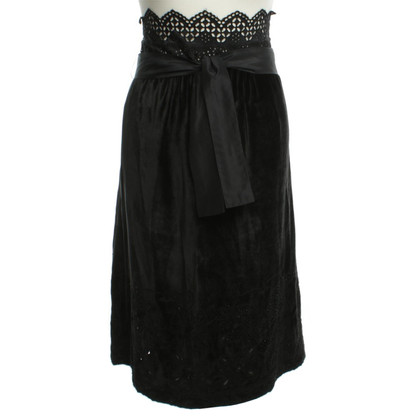 Etro Velvet skirt in black
